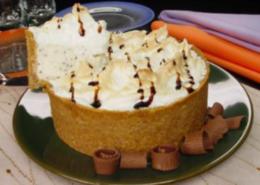 Torta de sorvete assado