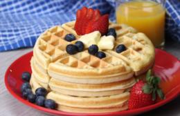 Waffle prático, macio e crocante