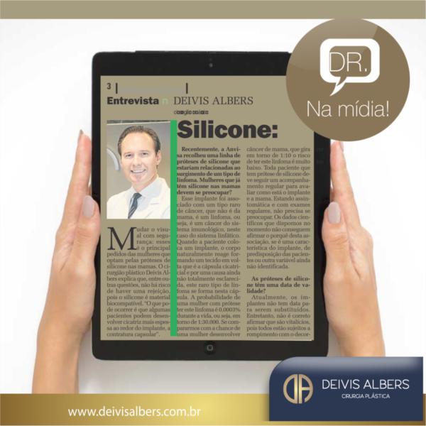 Silicone: beleza e segurança (Entrevista Dr. Deivis para o Jornal NH