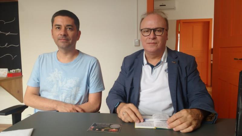 Eduardo Toth e padre Cyzo Assis Lima