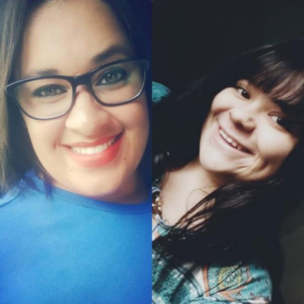 Martiele (esquerda na foto) e Camila (direita) representam a região