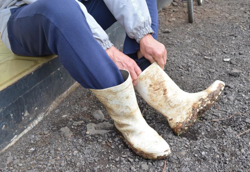 Para não contaminar, uma das recomendações é calçar as botas para a lida no campo