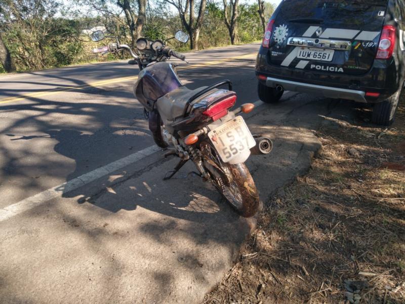 Moto foi recuperada na ERS-409