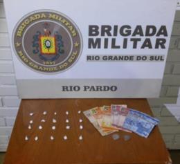 Dupla é presa por tráfico no Cemitério Municipal de Rio Pardo
