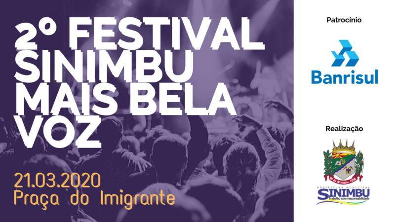 REGULAMENTO 2º FESTIVAL SINIMBU MAIS BELA VOZ 2020 - PATROCÍNIO BANRISUL