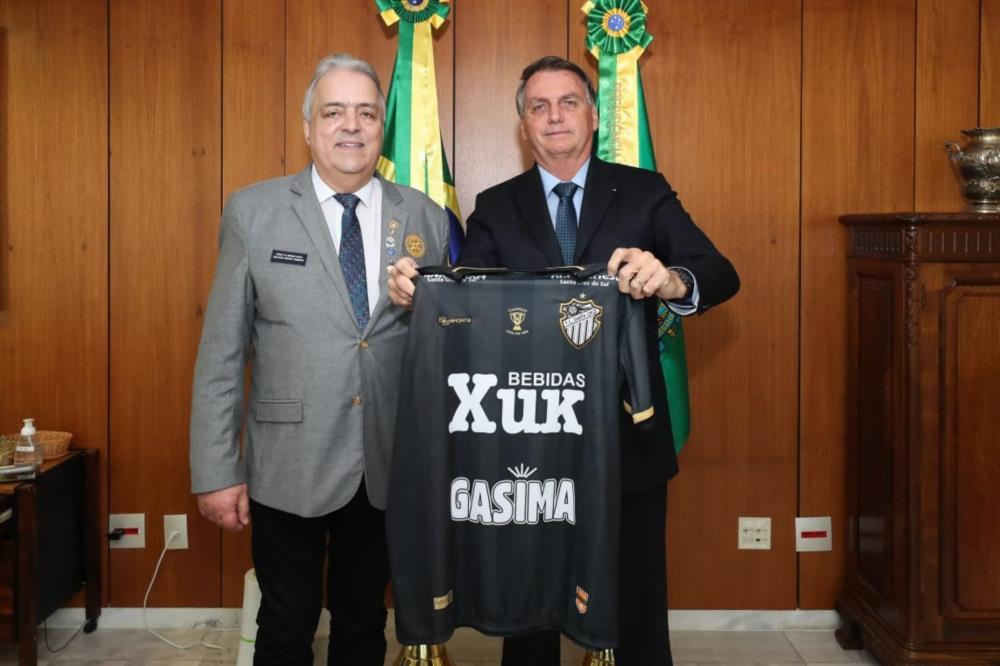 Gov. Tabajara R. de Andrade e Presidente da República Jair Bolsonaro