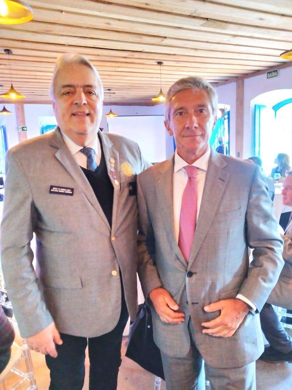 Gov. Tabajara Ramalho de Andrade e Embaixador de Portugal Luís Faro