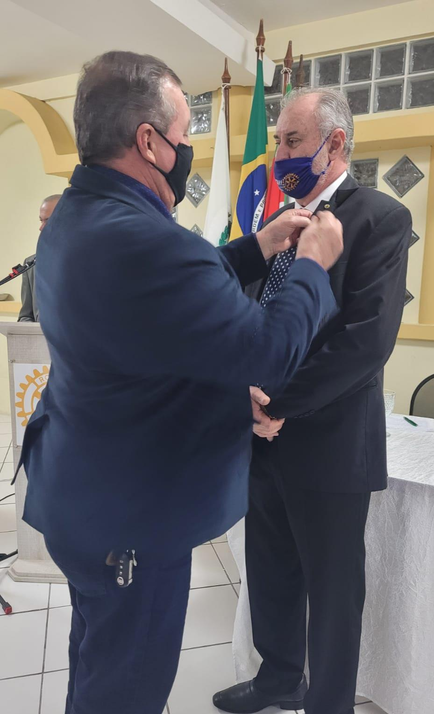 Posse do Presidente, novo Conselho e novos Rotarianos