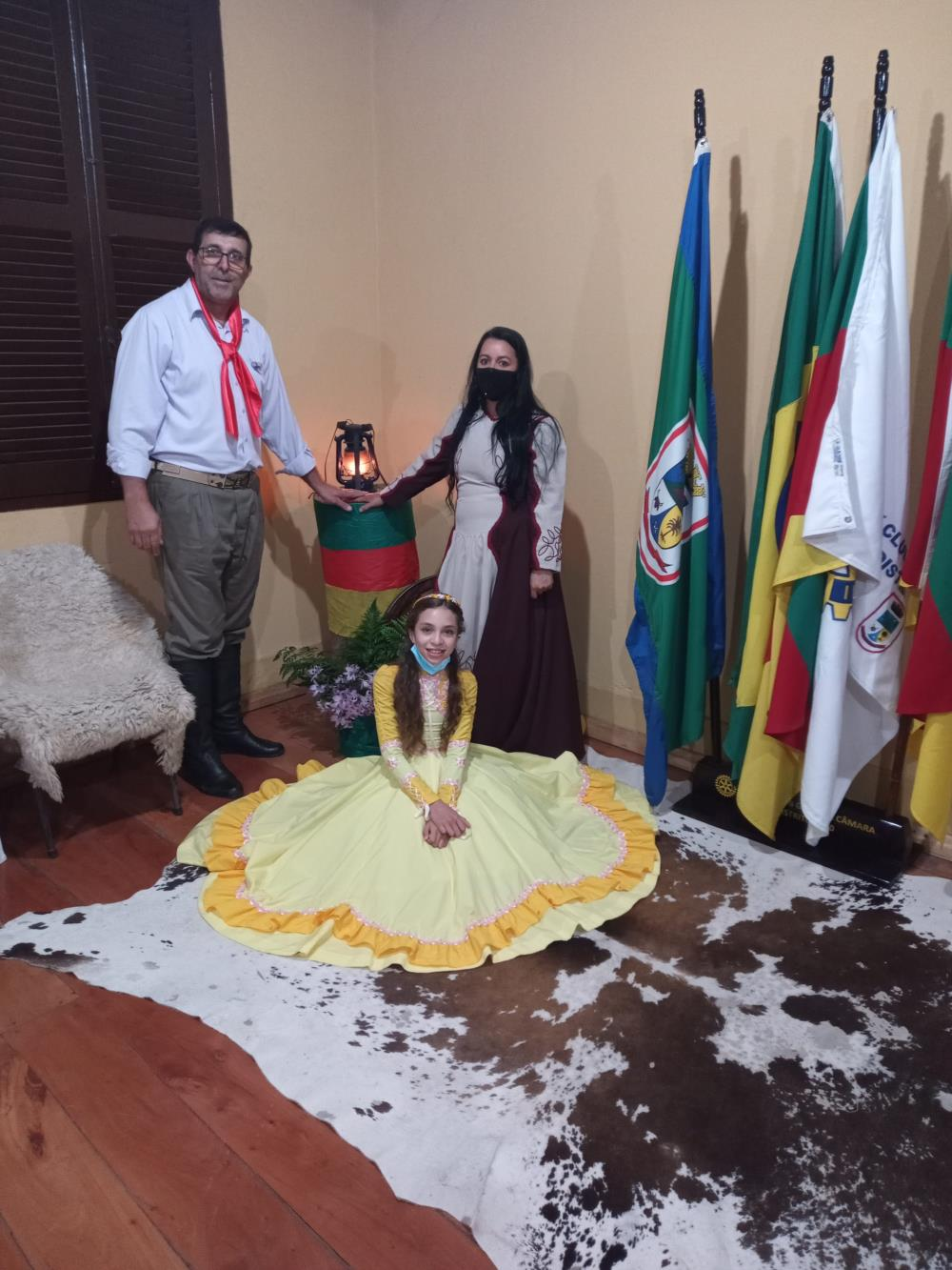 Presidente, Esposa e filha