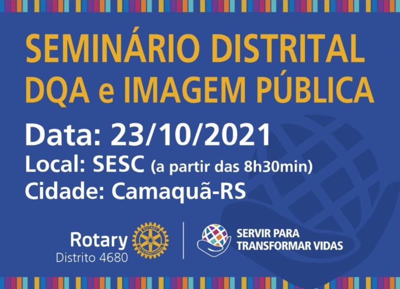 Seminário Distrital DQA e Imagem Pública
